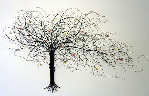 Trees In Design Vs1 Metal Sculpture Wall Art Wall Sculpture Art