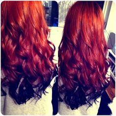 Great Hair Color Idea For The Summer Hair Hairextensions Beauty Hairstyle Ombre Chicagohairextensionssalon Dark Red Hair Color Red Hair Color Hair Styles