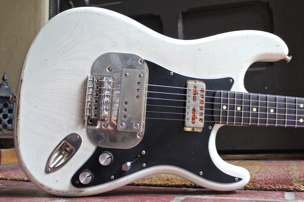 Waterslide Coodercaster Blonde W Roasted Maple Rosewood Neck Mojo Lap Steel Gold Foil Pickups Gold Foil Pickups Guitar Pick Up