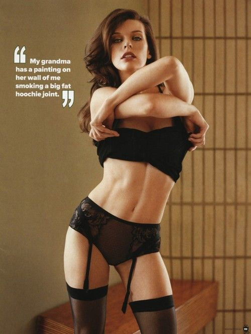 Mila Jovovich! Always liked her for sure! ;)