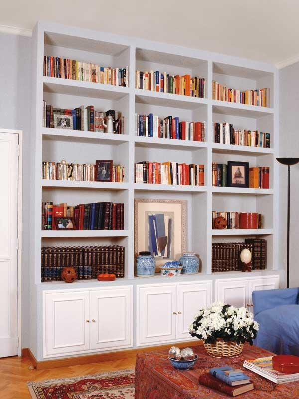 C mo hacer una librer a de obra salons living rooms and - Estanterias de obra para salon ...