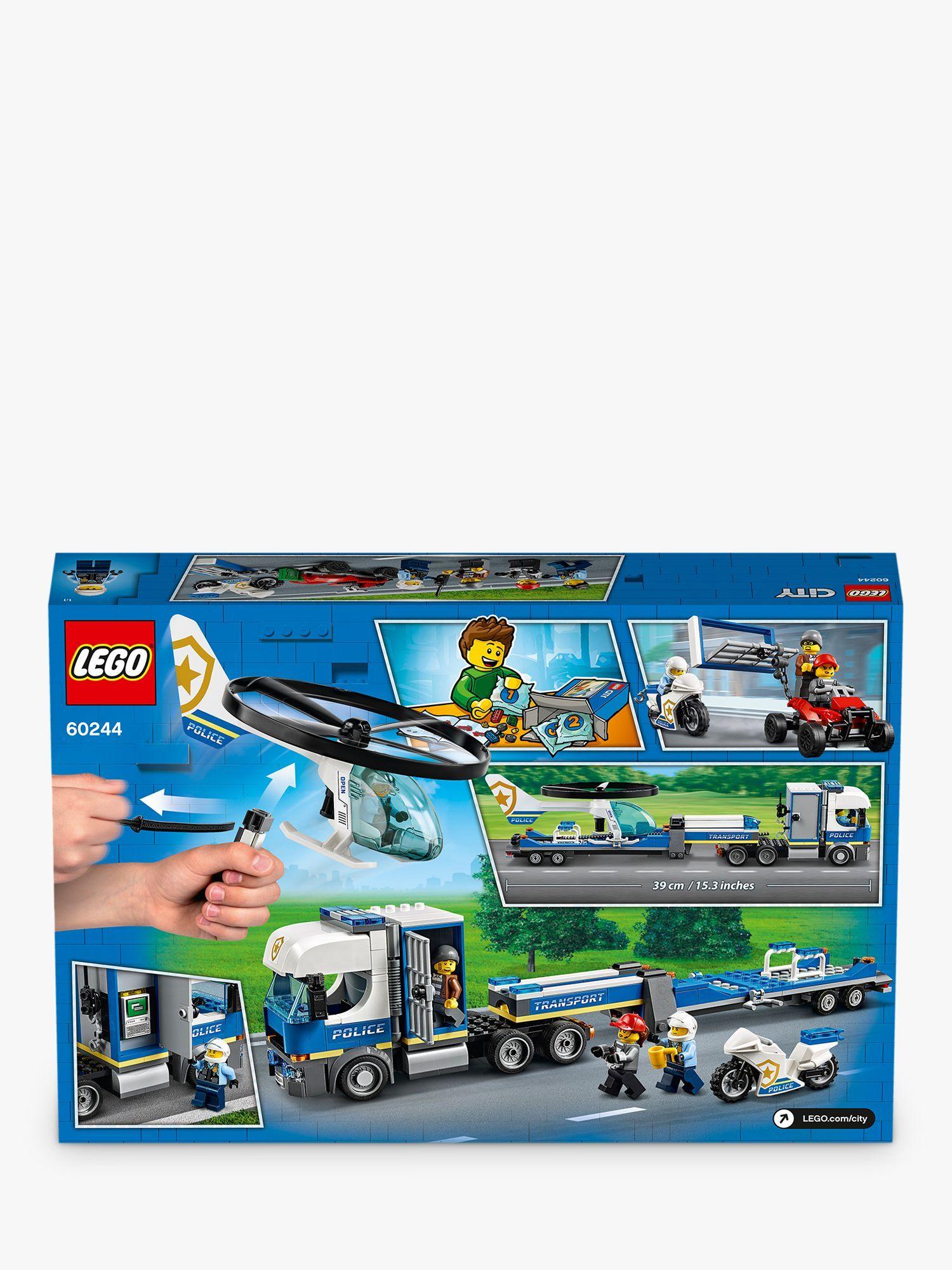 Lego City 60244 Police Helicopter Transport Lego City All Lego Transportation
