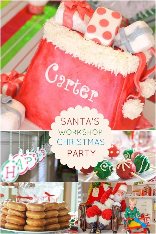 Christmas Kids Party Ideas Part - 35: Santau0027s Workshop Kids Christmas Party Ideas Www.spaceshipsandlaserbeams.com