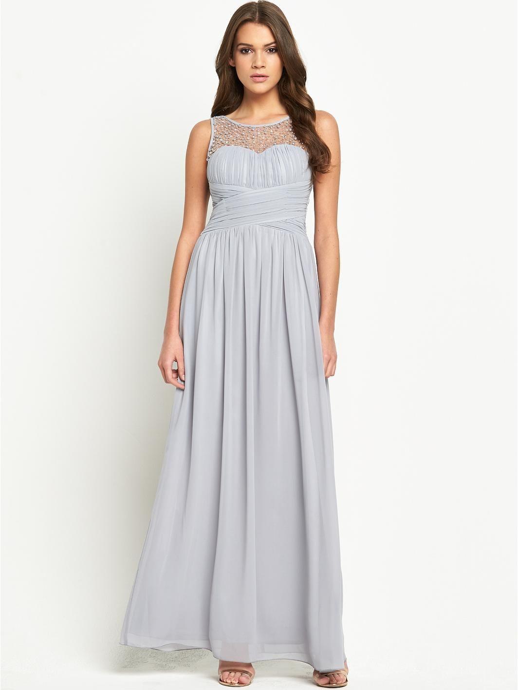 Little Mistress Embellished Mesh Maxi Dress | very.co.uk | Wedding ...
