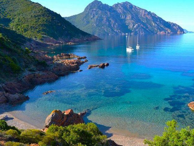 Les Plus Belles Plages De Corse Girolata Belle Plage Paysage France Paysage Corse