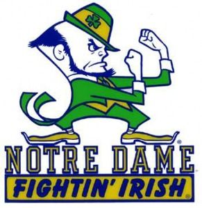 notre dame fighting irish kiss me i m irish pinterest notre rh pinterest com  logo lycée notre dame fontenay le comte