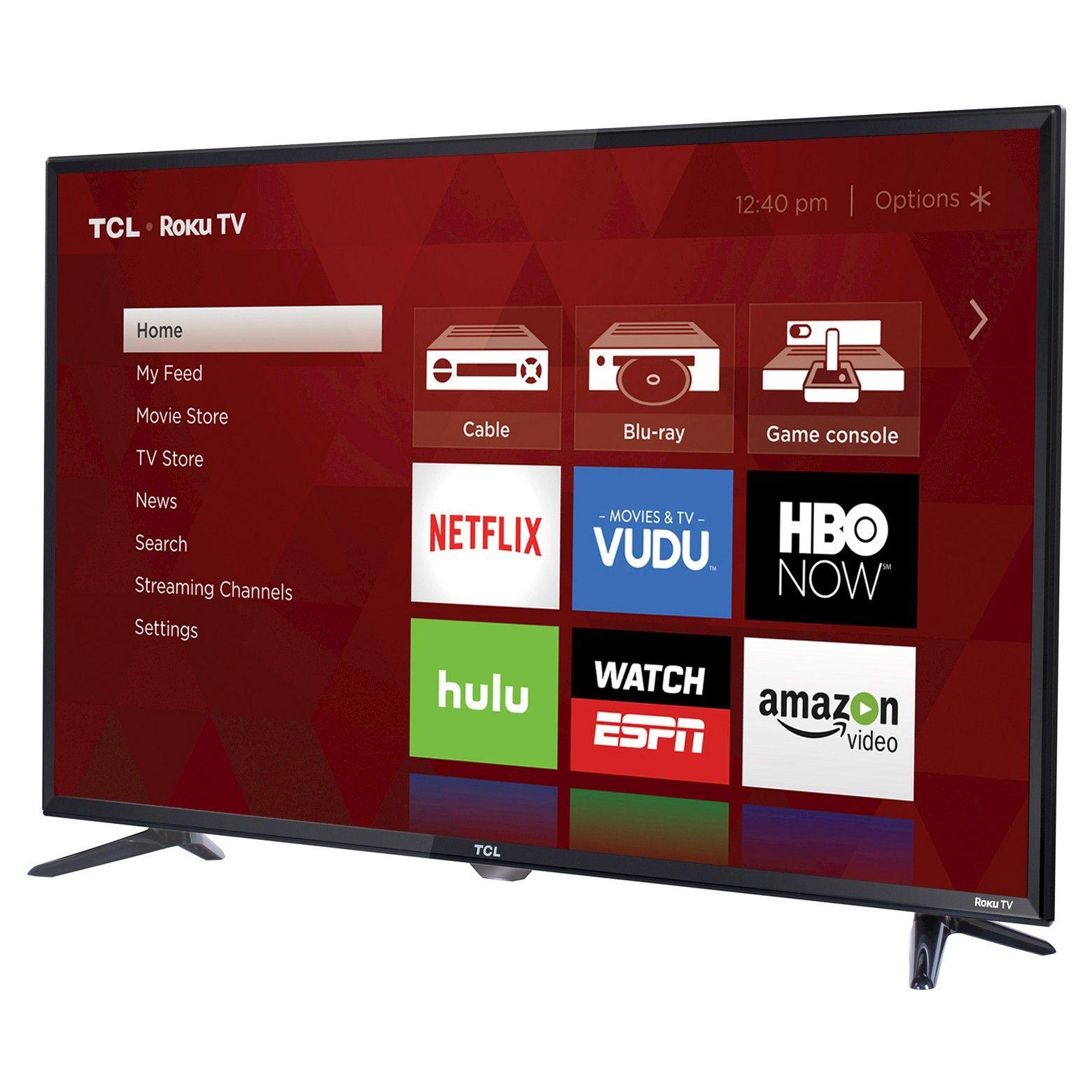 Tcl 40 1080p Smart Led Roku Tv 40s325 In 2020 Smart Tv Led Tv Tv