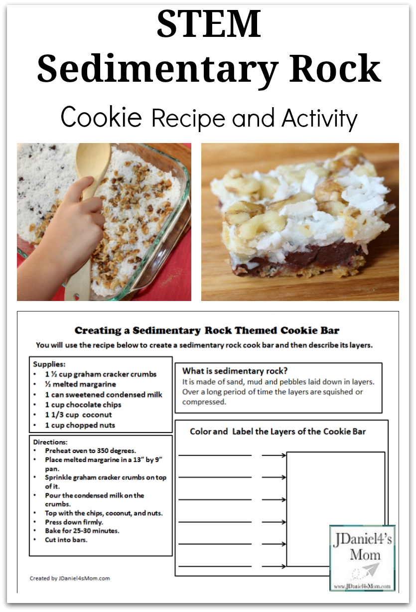 Stem Sedimentary Rock Cookie Recipe And Activity Your Children At Home Or Students At School Can Learn About Rock Cookies Recipe Rock Cycle Sedimentary Rocks