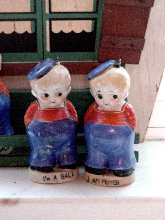 Vintage 1930s Salt and Pepper Pudgy Sailors 65
