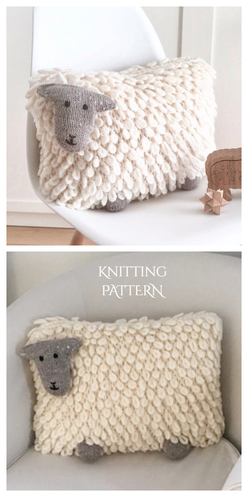 Knit Sheep Pillow Free Knitting Patterns & Paid - Knitting Pattern