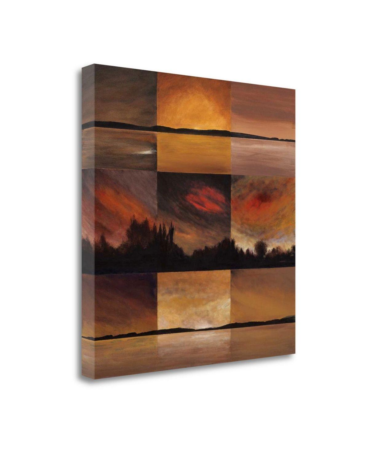 Tangletown Fine Art Horizontal Lines By Earl Kaminsky Fine Art Giclee Print On Gallery Wrap Canvas 30 X 30 Multi Art Wrapped Canvas Canvas