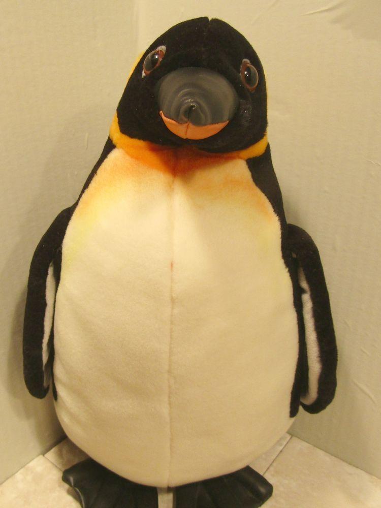 Sea World Emperor Penguin Realistic Plush Doll Toy 14 Stuffed