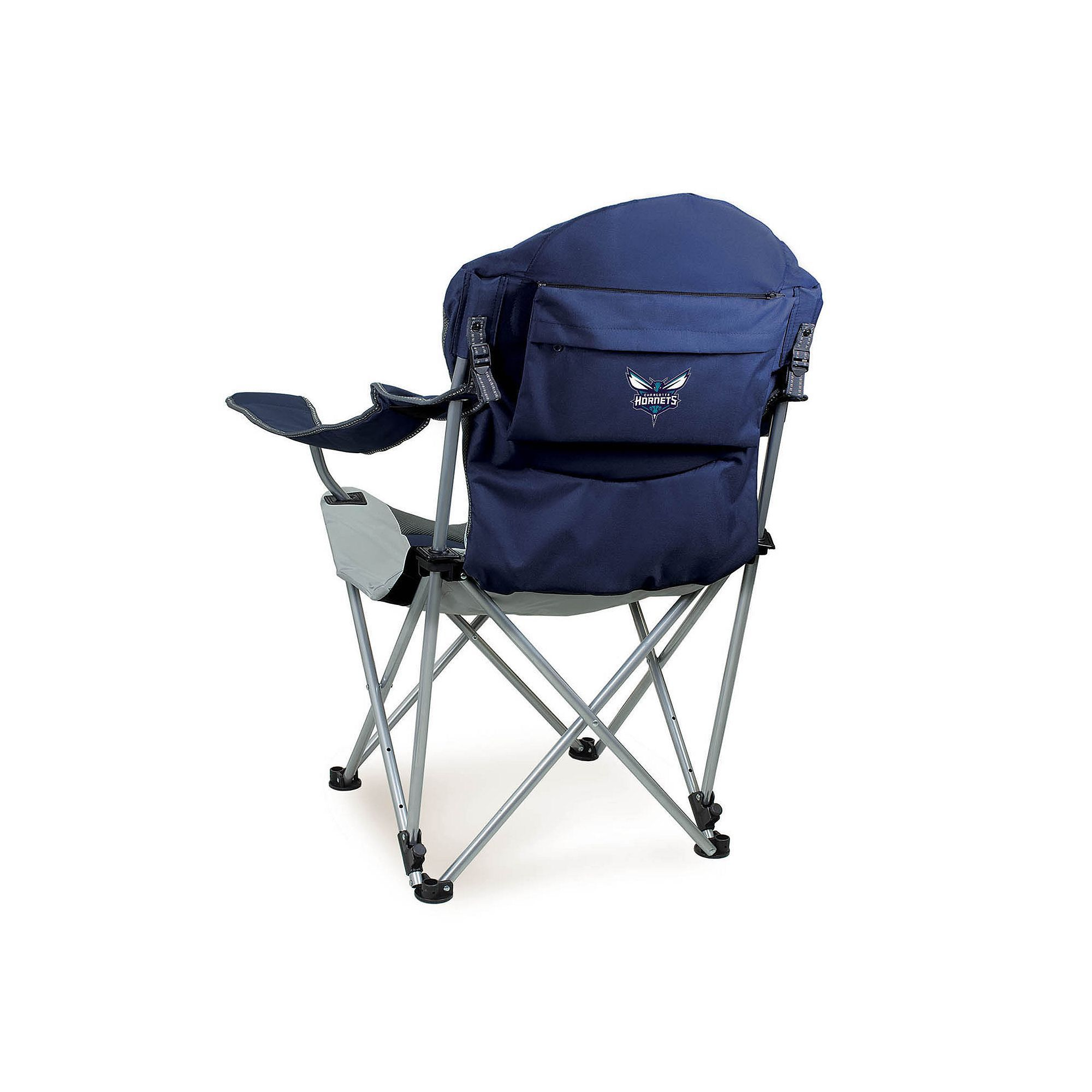 Outdoor Picnic Time Charlotte Hornets Reclining Camp Chair Blue