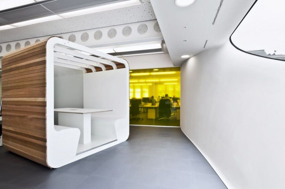 Dentsu London Office Office designs Office interiors and Space age