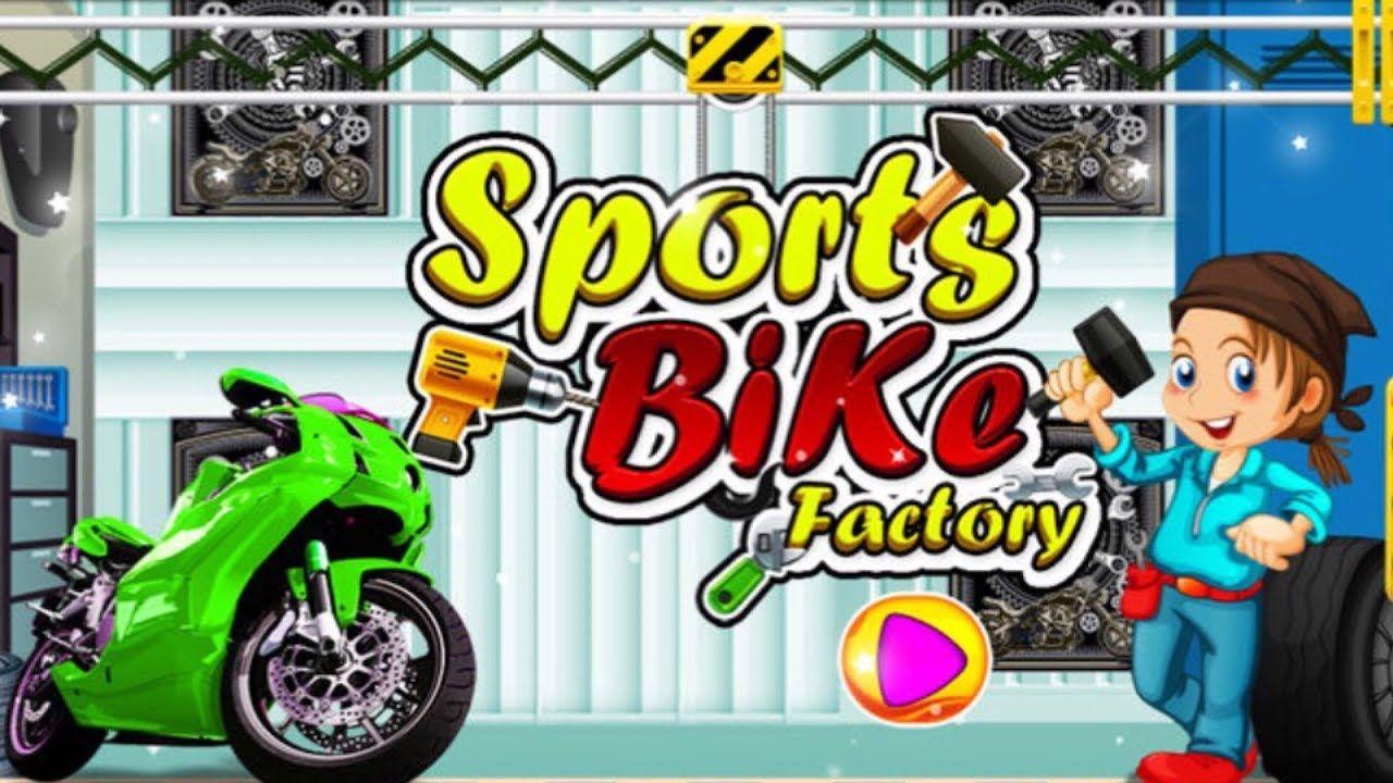Sports Bike Factory Build Motorcycle Fun Games For Boys Fun