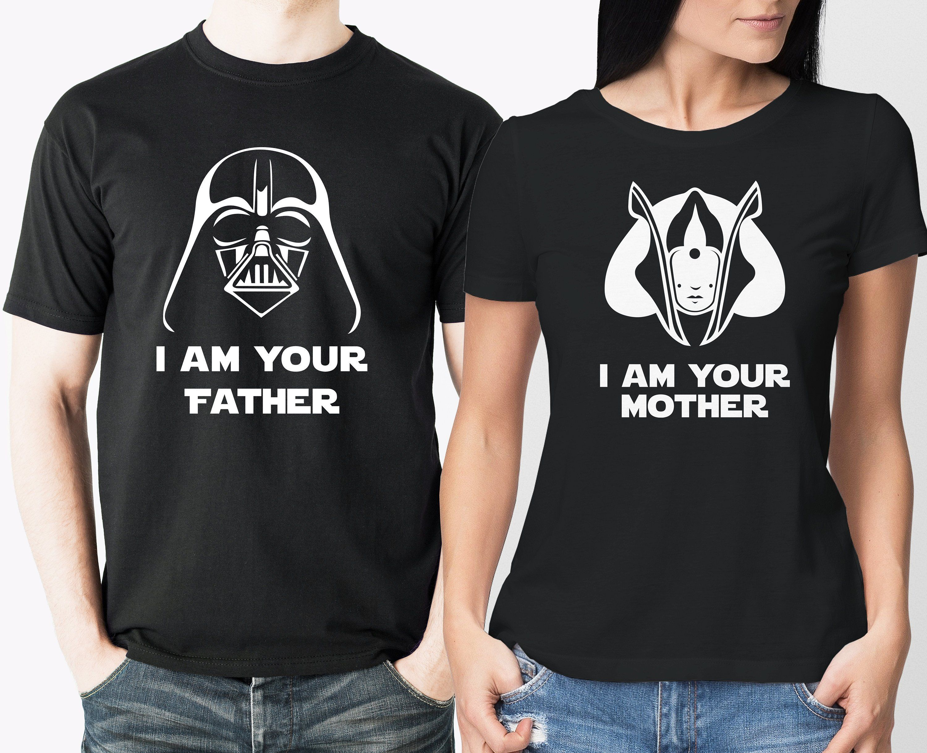 41a8d8e8f Darth Vader, I am your father and Padme, I am your mother t-shirts set. by  MumKnowsBabyGrows on Etsy