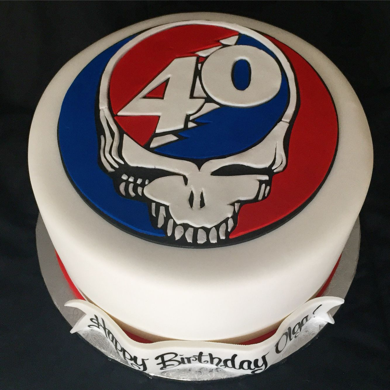 Grateful Dead Steal Your Face Cake ️ By Cakebaby 40th
