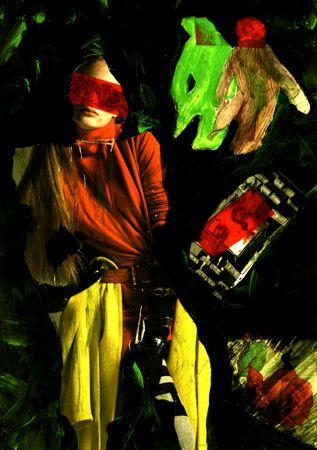 """6-Toulouse Lautrec x Cris Acqua.  Pintura Mixta Collage. 30x21 cm.  HOMENAJE :""""Mi amor por este genial pintor...dueño de los trazos más libres y geniales de la Belle epoque, me han influido totalmente en mi camino por el arte..."""" (Cris Acqua)  http://www.crisacqua.com"""