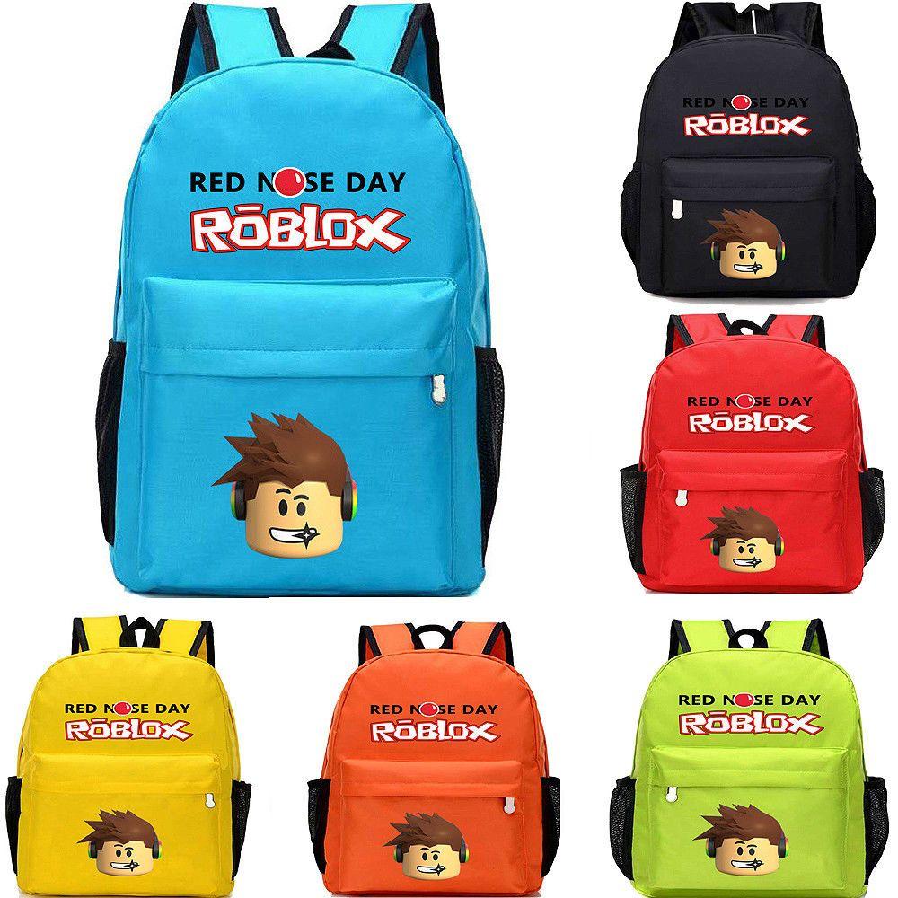 93f97e05a200 Boys Girls Roblox Kids School Bag Book Bag Children's Student Travel ...