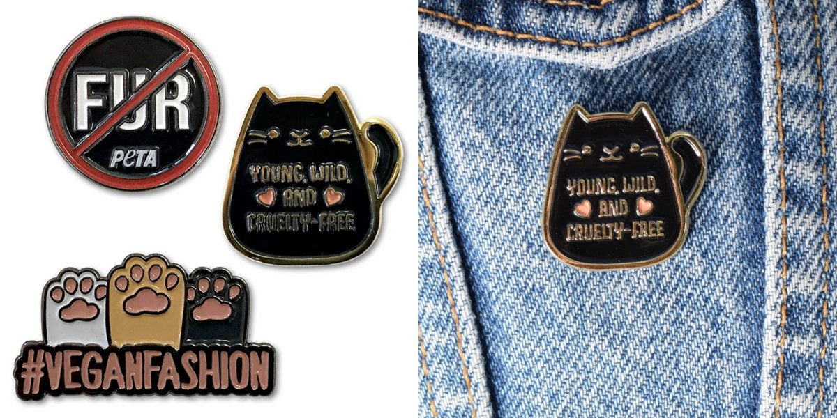Join the VeganFashion revolution with these adorable pins