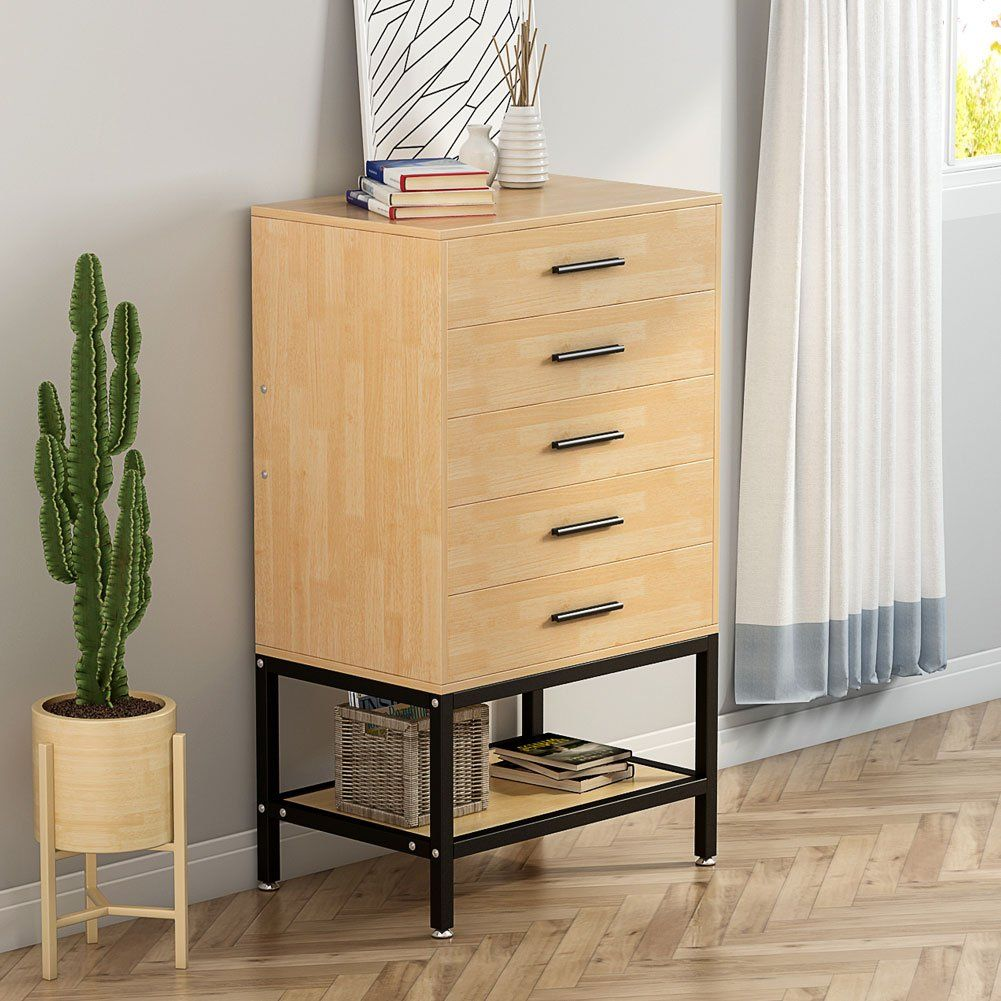 Chests Of Drawers Little Tree Tall Accent Chest With Open Storage Works As File Cabinet Collection Suitable For Bedro Furniture Home Furniture Wood Storage