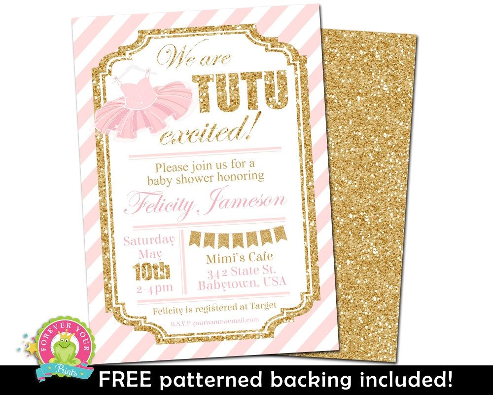 Girls Baby Shower Invitations - Tutu Baby Shower Invitations ...