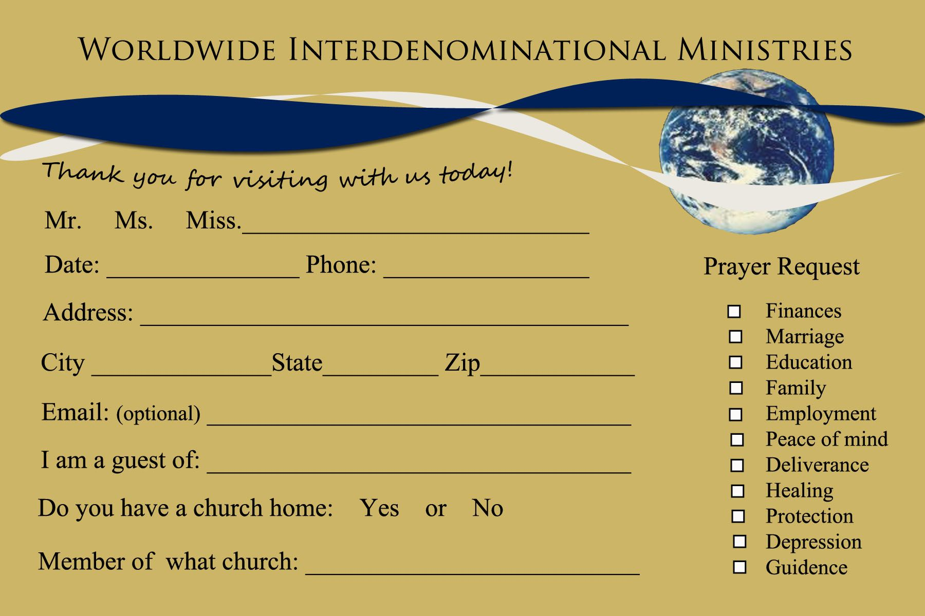 Thinking About Redoing Your Church Connection Cards They Need Updating And Greater Simplicity Here Are Some Examples And Card Template Card Templates Church