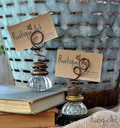 RESERVED  Vintage Glass Door Knob Photo Holder by rustiqueart, $50.00