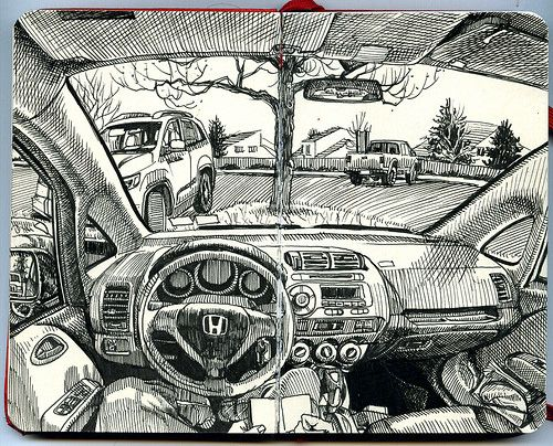 Architecture Drawing Cars inside the car | cars, sketchbooks and sketches