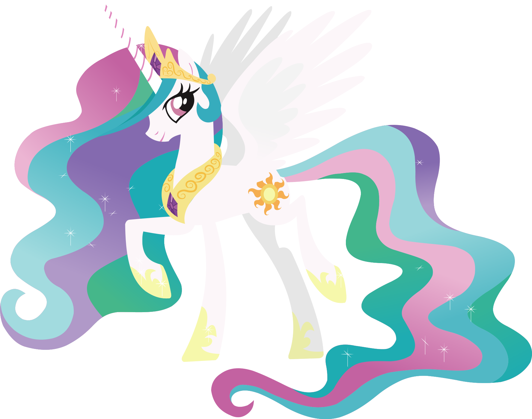 My Little Pony Coloring Pages Pricess Celestia