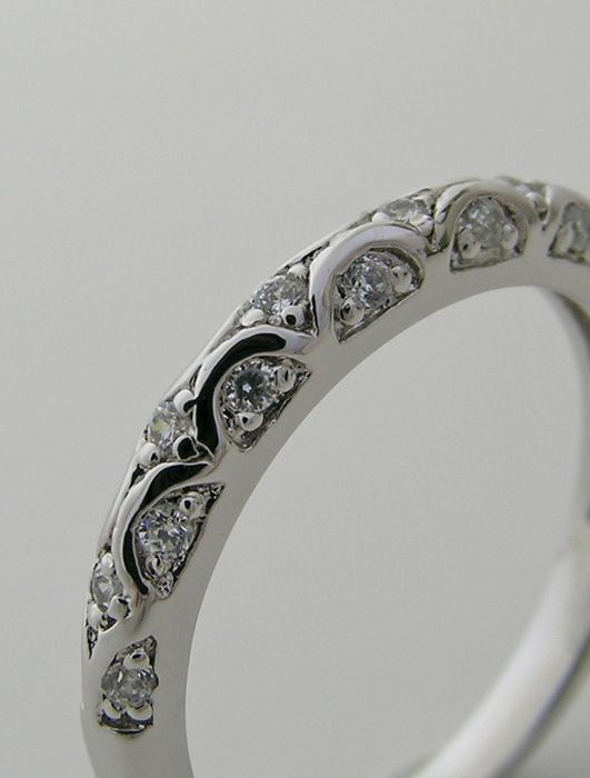 Detailed Wedding Rings Band Ring Forever Feminine Diamond Add Beading To Arches