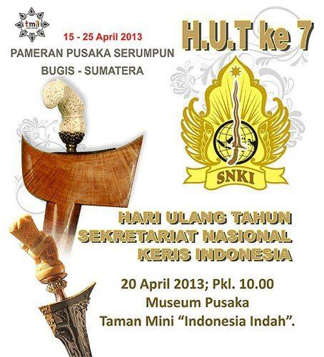 Seventh Anniversary of the Indonesian National Keris Secretary (SNKI)