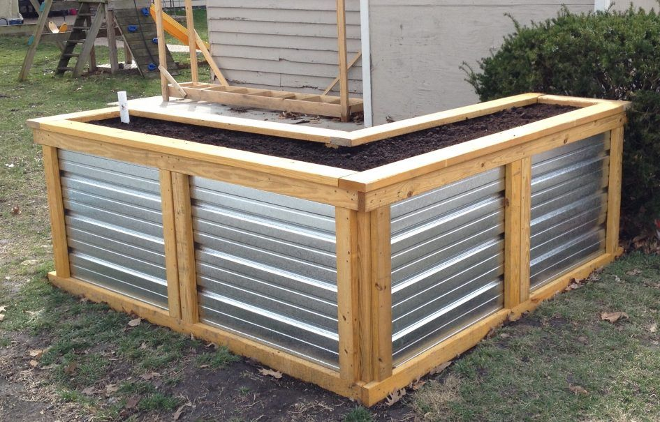 fall, Corrugated Raised Garden Beds Rug Designs Steel Bed