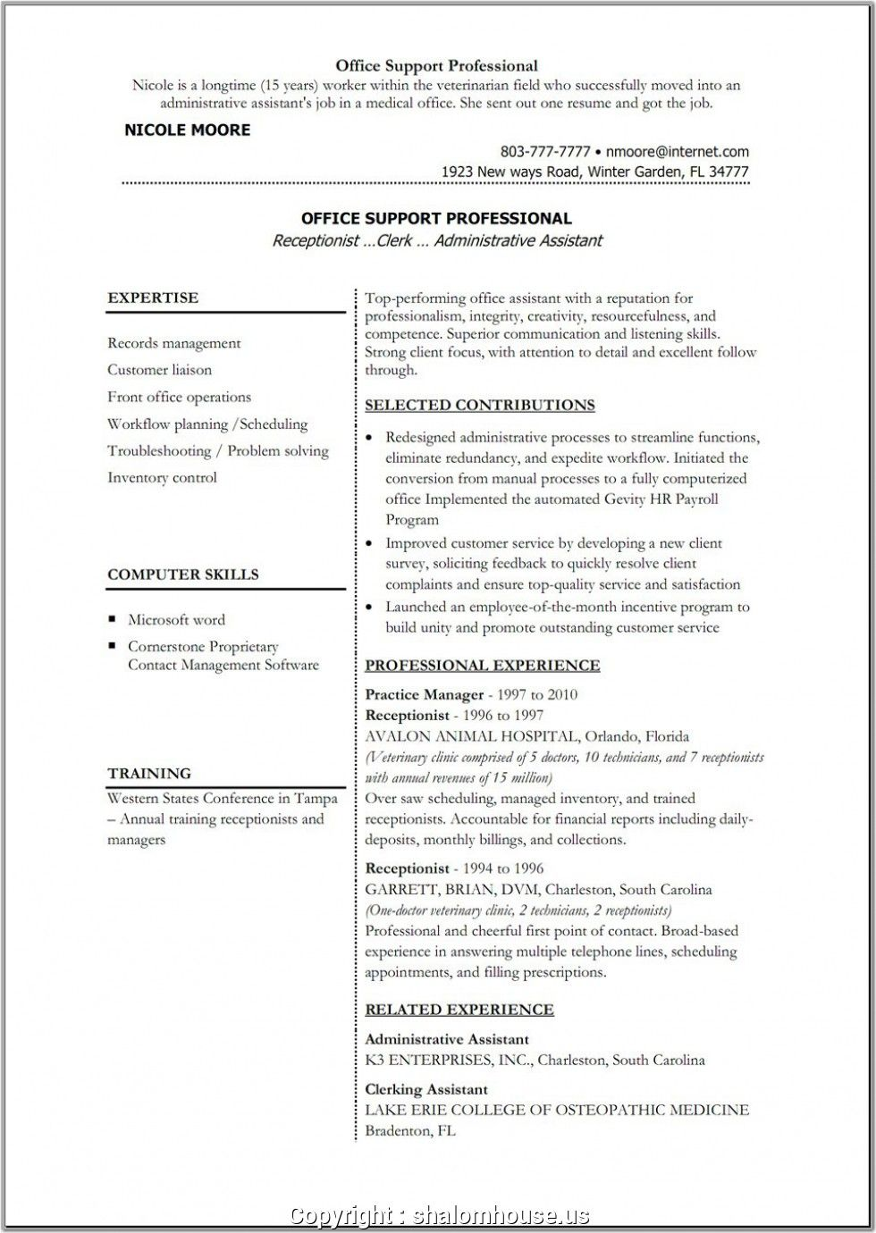 Make Sample Resume For Back Office Executive Back Office Executive
