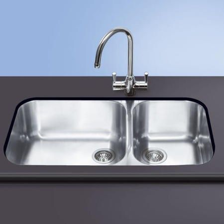 GRADE A1 - Smeg UM4530 Alba Double Bowl Undermount Sink 77393643/1 ...