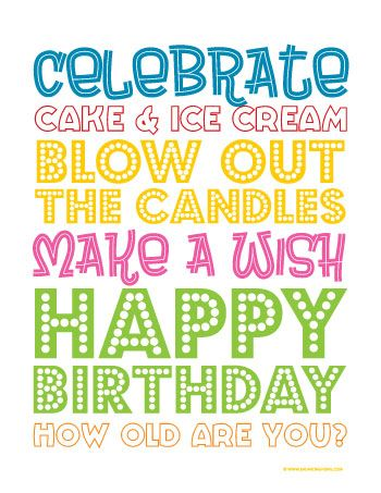 37 Birthday Printables Cakes and a GIVEAWAY Birthdays Birthday