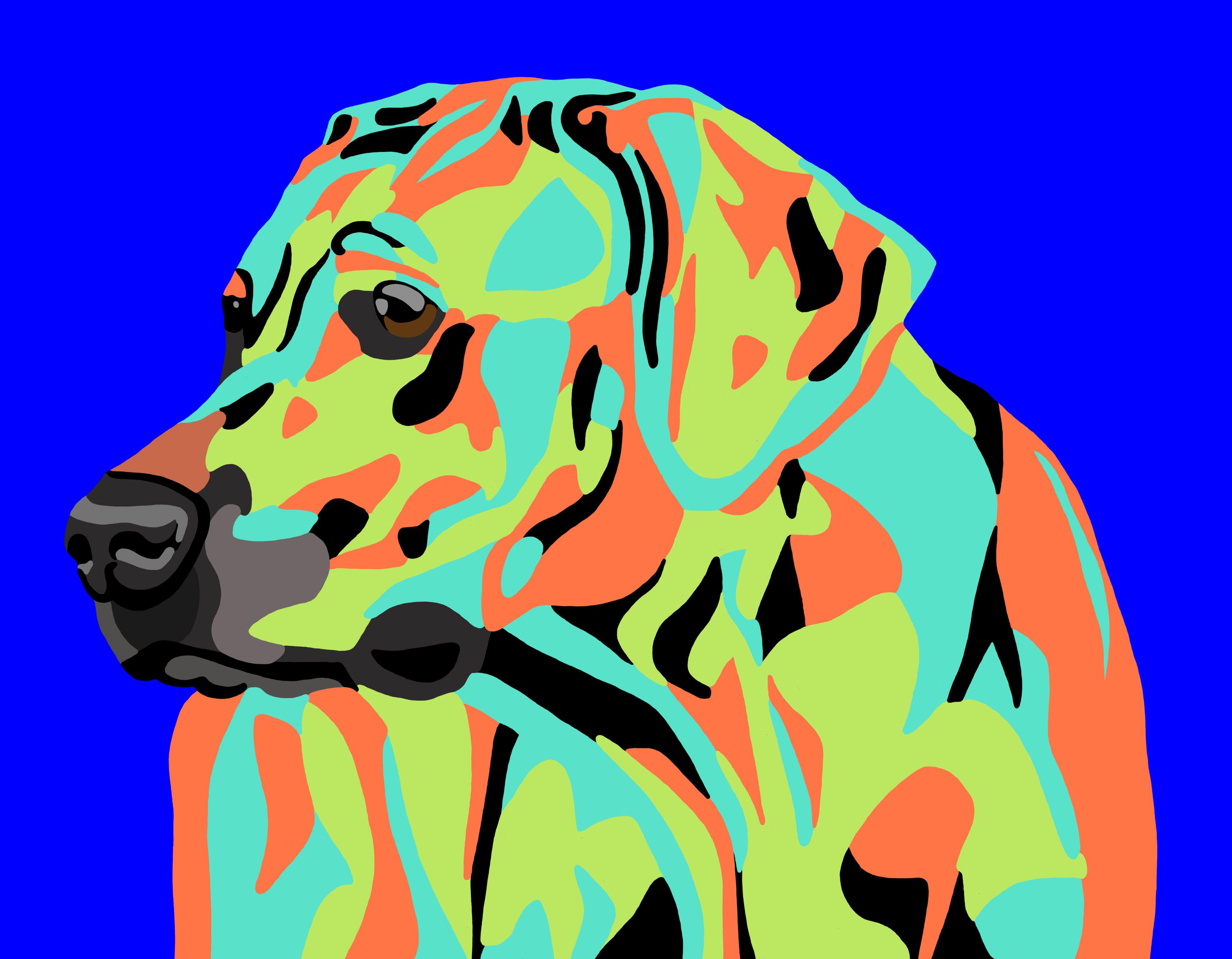 Rhodesian Ridgeback abstract digital print by Digital Artist Rachel ...