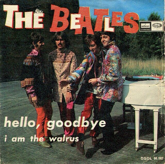 Cool Beatles Hello, Goodbye/ I Am The Walrus record cover