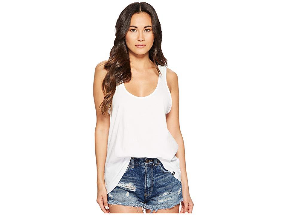 Hurley perfect tank top womens sleeveless white loose