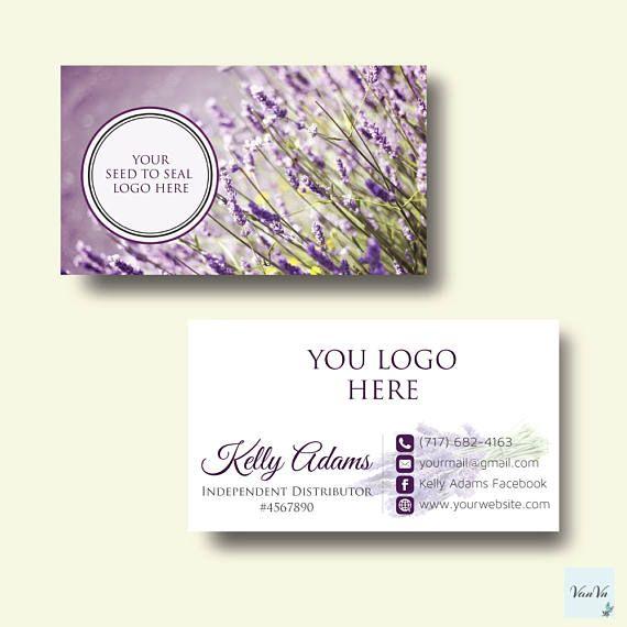 Essential Oils Business Card Essential oil Custom Business Card