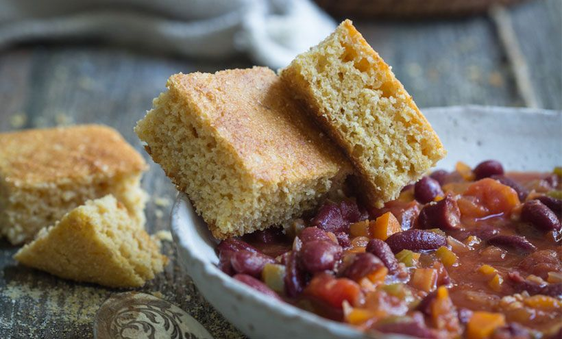 Healthy Vegan Cornbread Recipe (Gluten Free Option) | Recipe | Breads / Baked Goods | Vegan ...