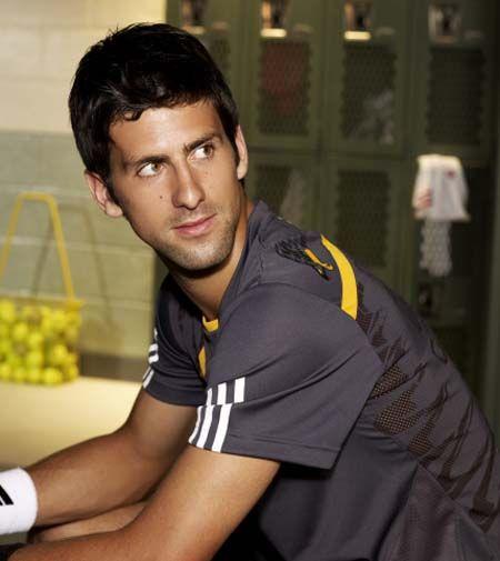Novak Djokovic Cute Hair Novak Djokovic Tennis Players Athlete