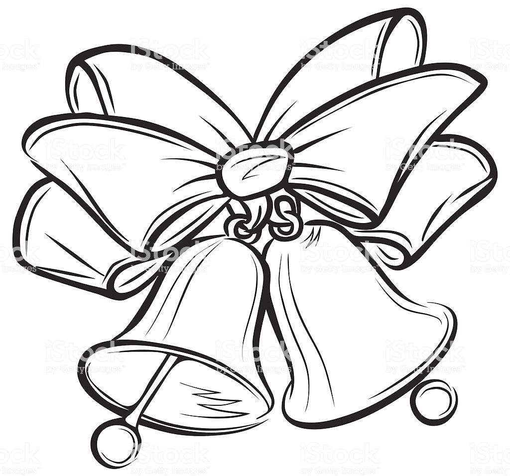 40+ Christmas Bells Black And White Clipart