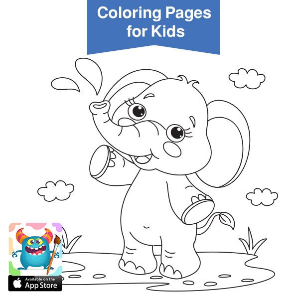 صور حيوانات للتلوين رسومات اطفال رسومات حيوانات الغابه للتلوين بالعربي نتعلم In 2021 Coloring Books Coloring Pages For Kids Easy Coloring Pages