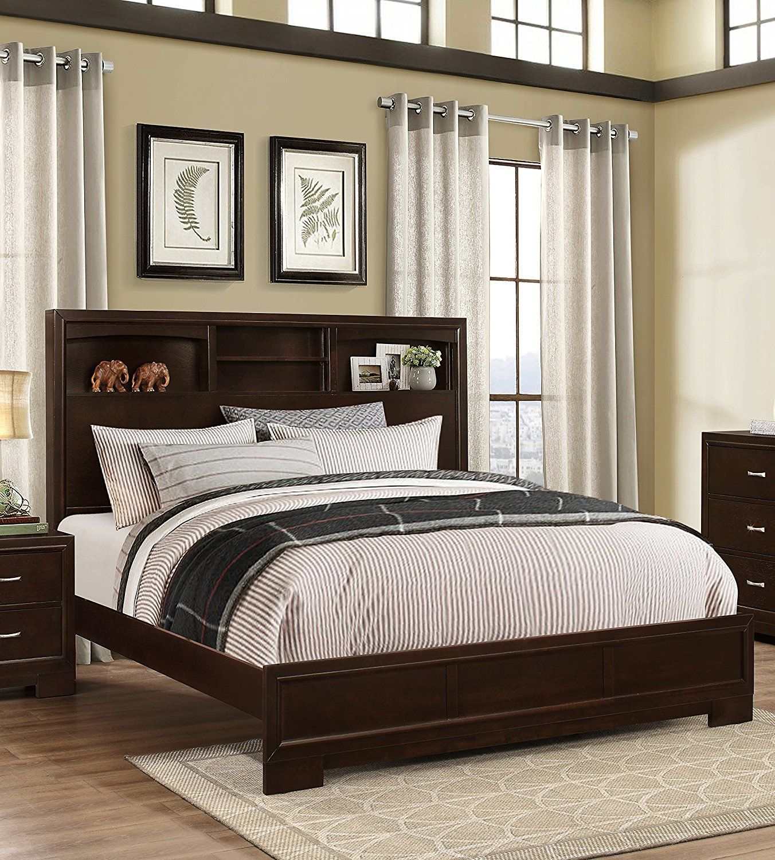 Roundhill Furniture Montana Modern 5-Piece Wood Bedroom ...