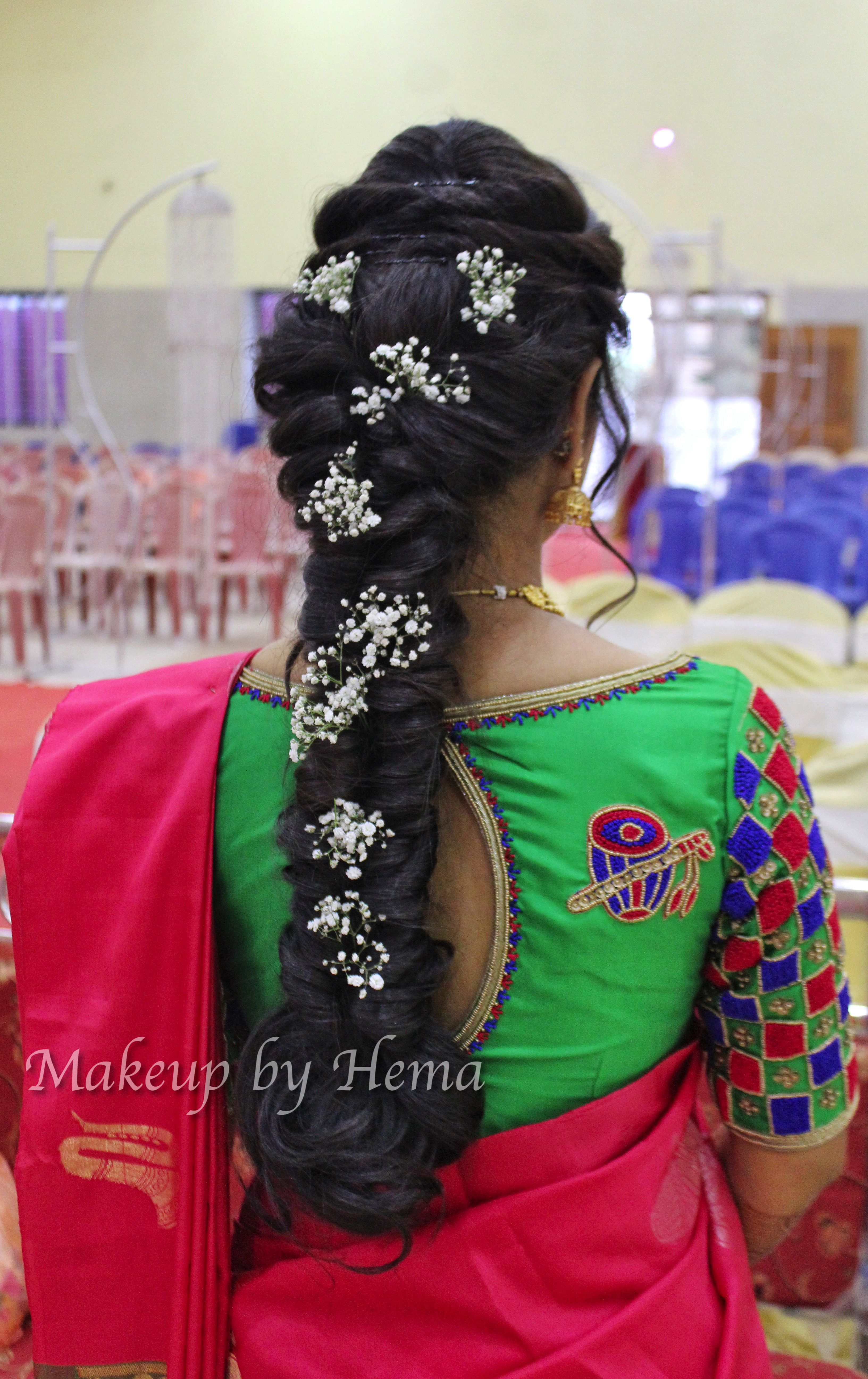 hairstyles for indian wedding, messy braid, bridal braided