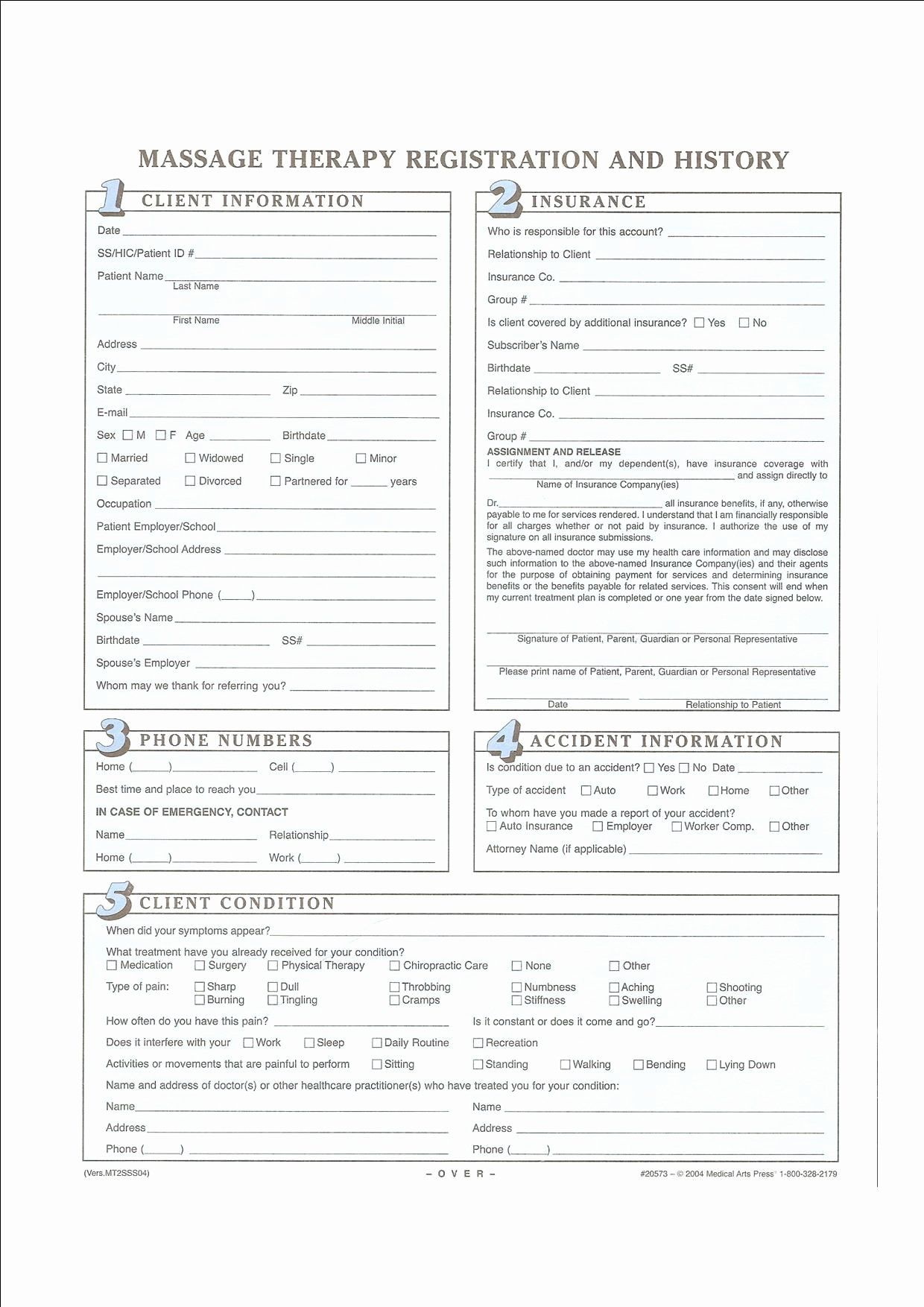 Physical therapy forms Template Lovely Intake forms My