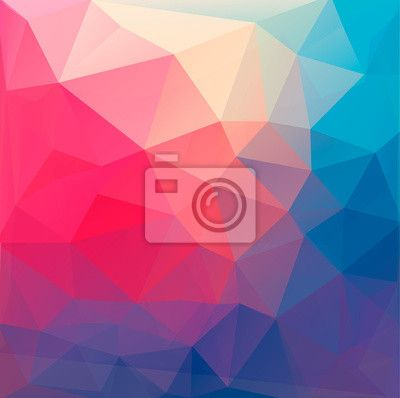 Wall Mural Polygon abstract background. Vector.