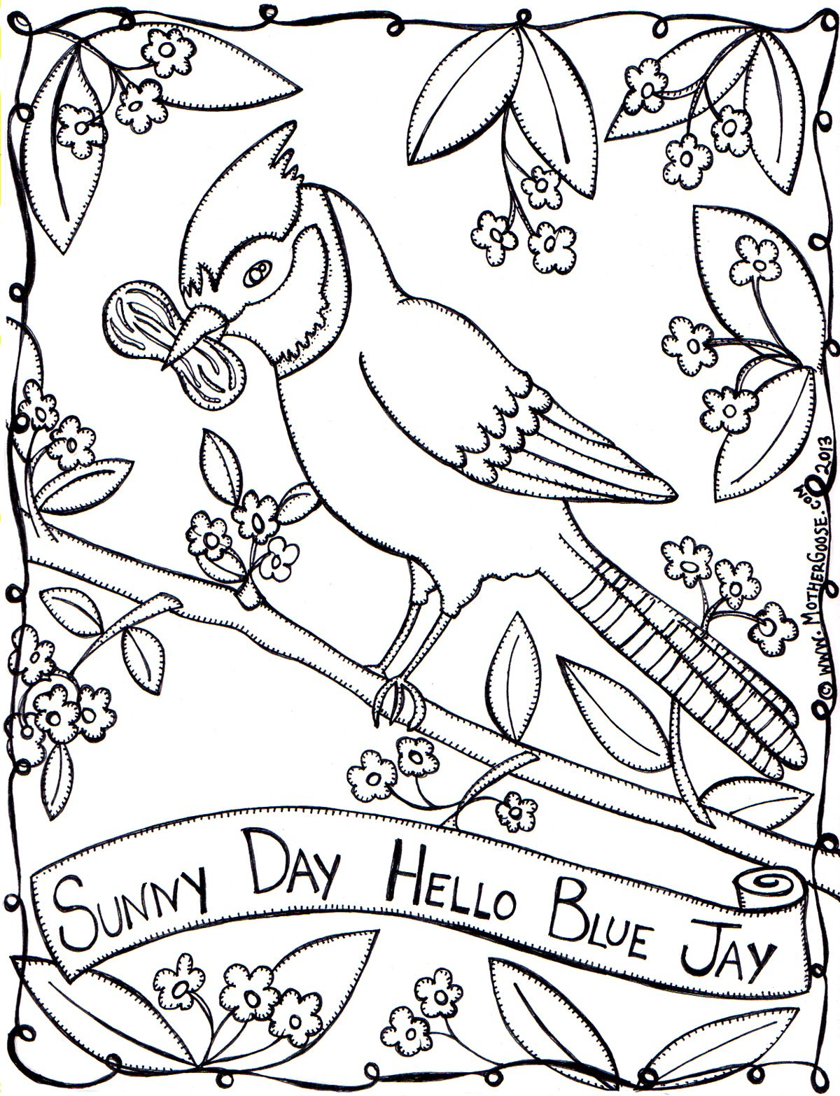 Here Is The Third In The Sunny Day Series Of Coloring Pages You