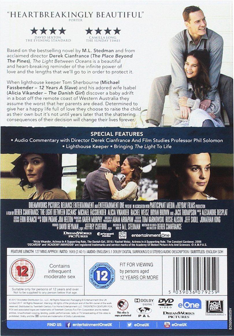Light Between Oceans Edizione Regno Unito Reino Unido Dvd Edizione Regno Light Oceans Dvd Reino Unido Compras